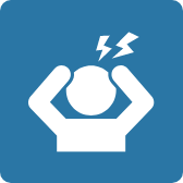 Icon of Person With Pain Lines Above Their Head